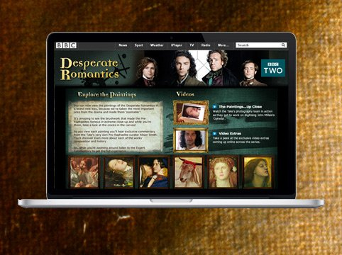 BBC Desperate Romantics microsite